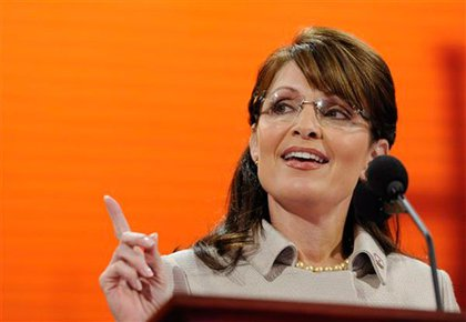 Governor Sarah Palin addresses the Republican National Convention