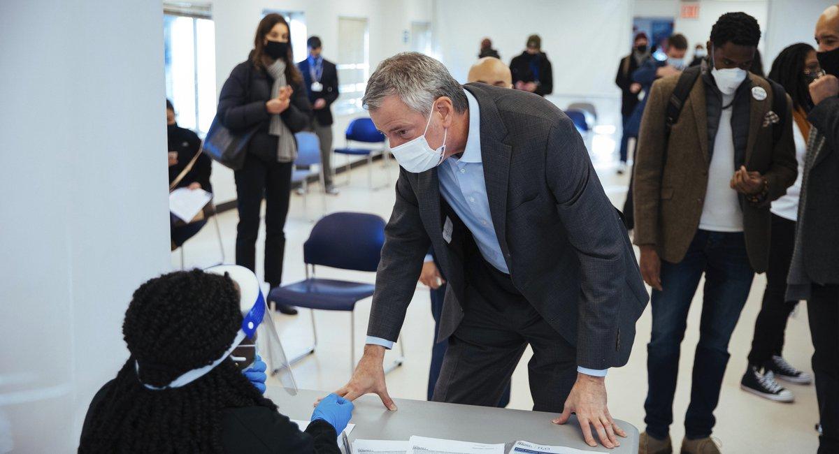 Mayor De Blasio Says NYC Will Run Out Of COVID Vaccine Next Week