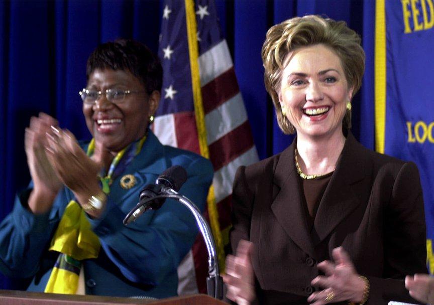 C. Virginia Fields with Hillary Clinton, November 1999.