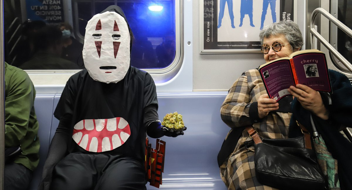 Photos: The Best Halloween Costumes On The NYC Subway In 2019
