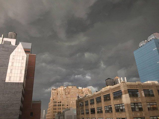 Tuesday's stormy sky.