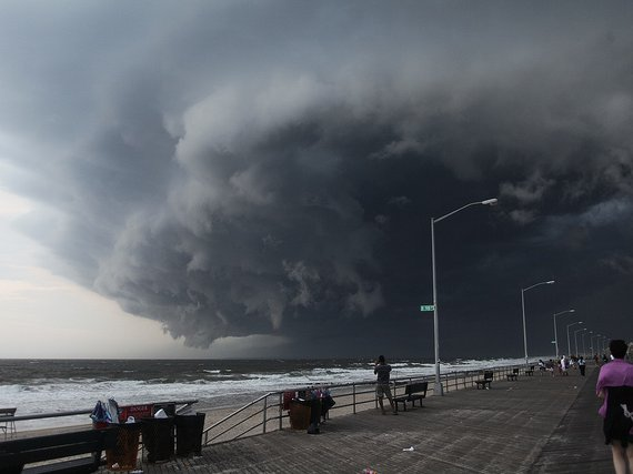A summer storm in 2012 that may approximate Rockaway's current mood.