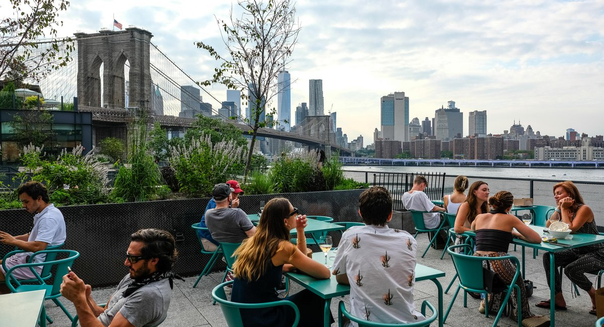 DUMBO's Time Out Market Reopens With Indoor Ordering & Outdoor Seating
