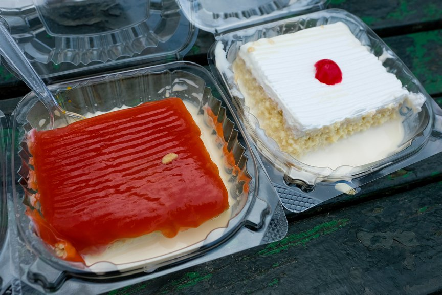 Guava ($4) and Regular ($3.50) Tres Leches Cakes