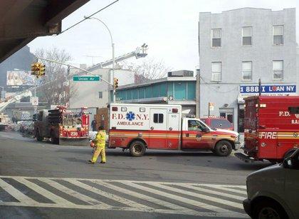 Firetrucks over Union Pool