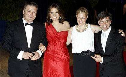 Alec Baldwin, Mariska Hargitay, Alexandra Wentworth, and George Stephanopoulos