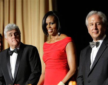 Jay Leno, Michelle Obama and Bloomberg News chief Matthew Winkler