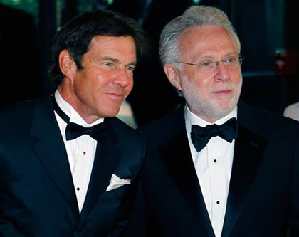 Dennis Quaid and Wolf Blitzer