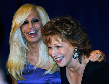 Donatella Versace and Joy Behar