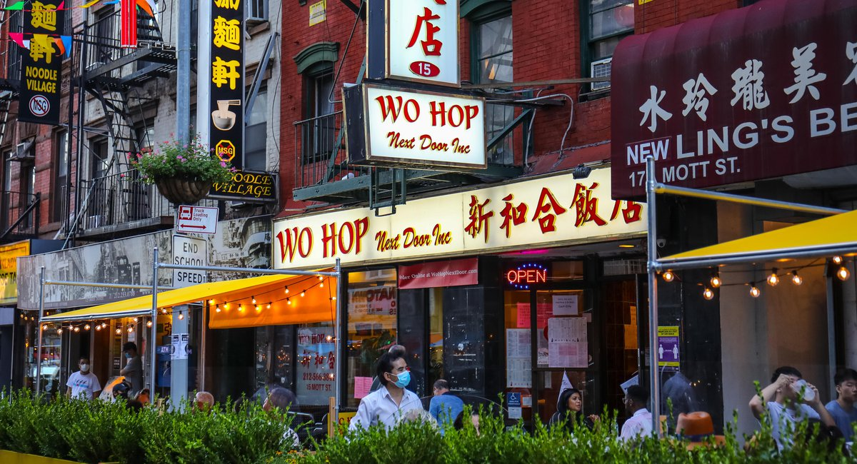 Chinatown Classic Wo Hop Reopens On Mott Street's New Outdoor Dining Haven