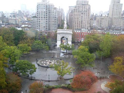 Washington Square Park in the Rain, by j_bary at flickr