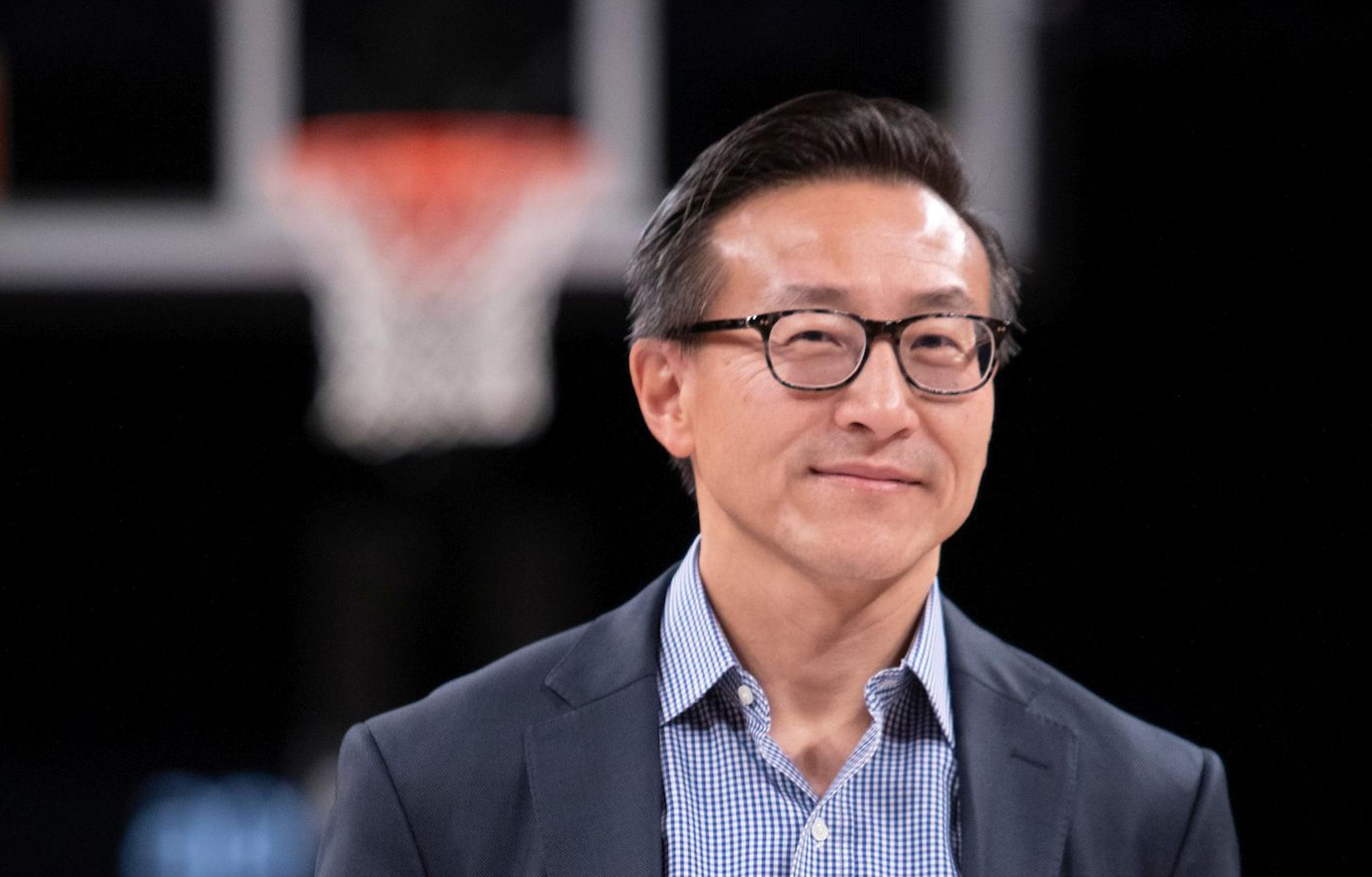 Joe Tsai at the Barclays Center