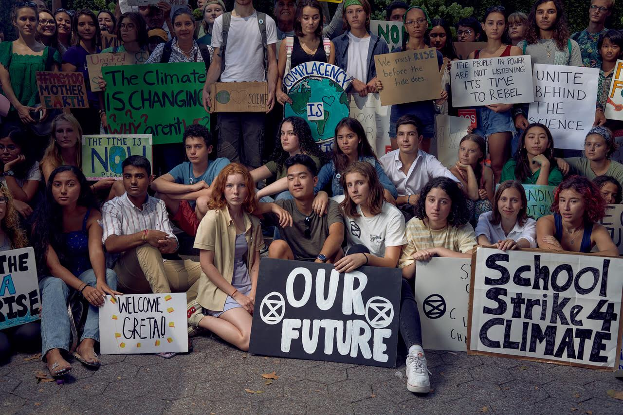 Fridays for Future student protesters.
