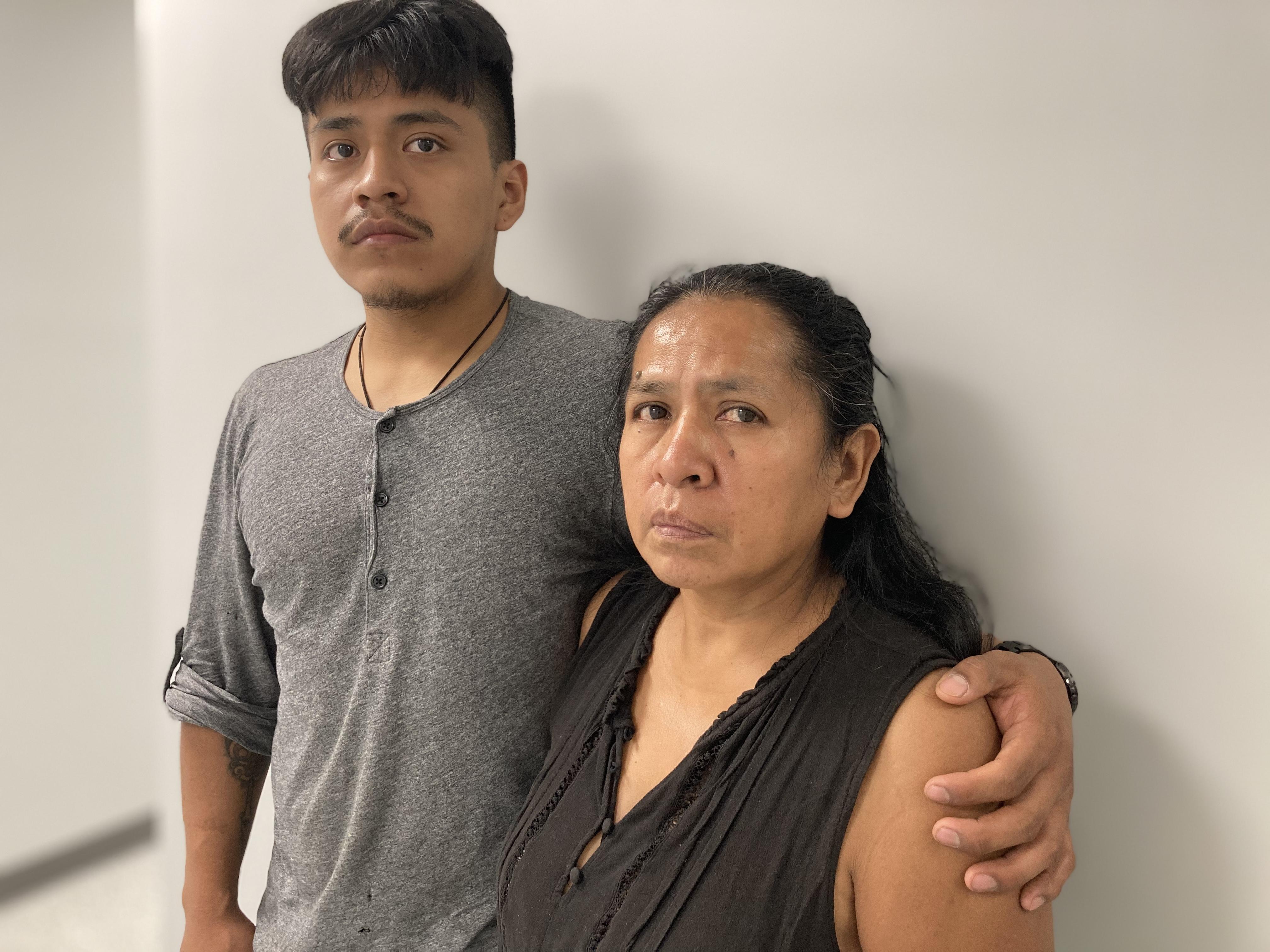 Luz Gualman and her son Francisco Guallpa