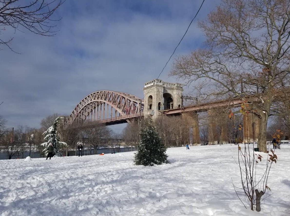Astoria Park in snow