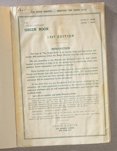 Green Book from the 30s