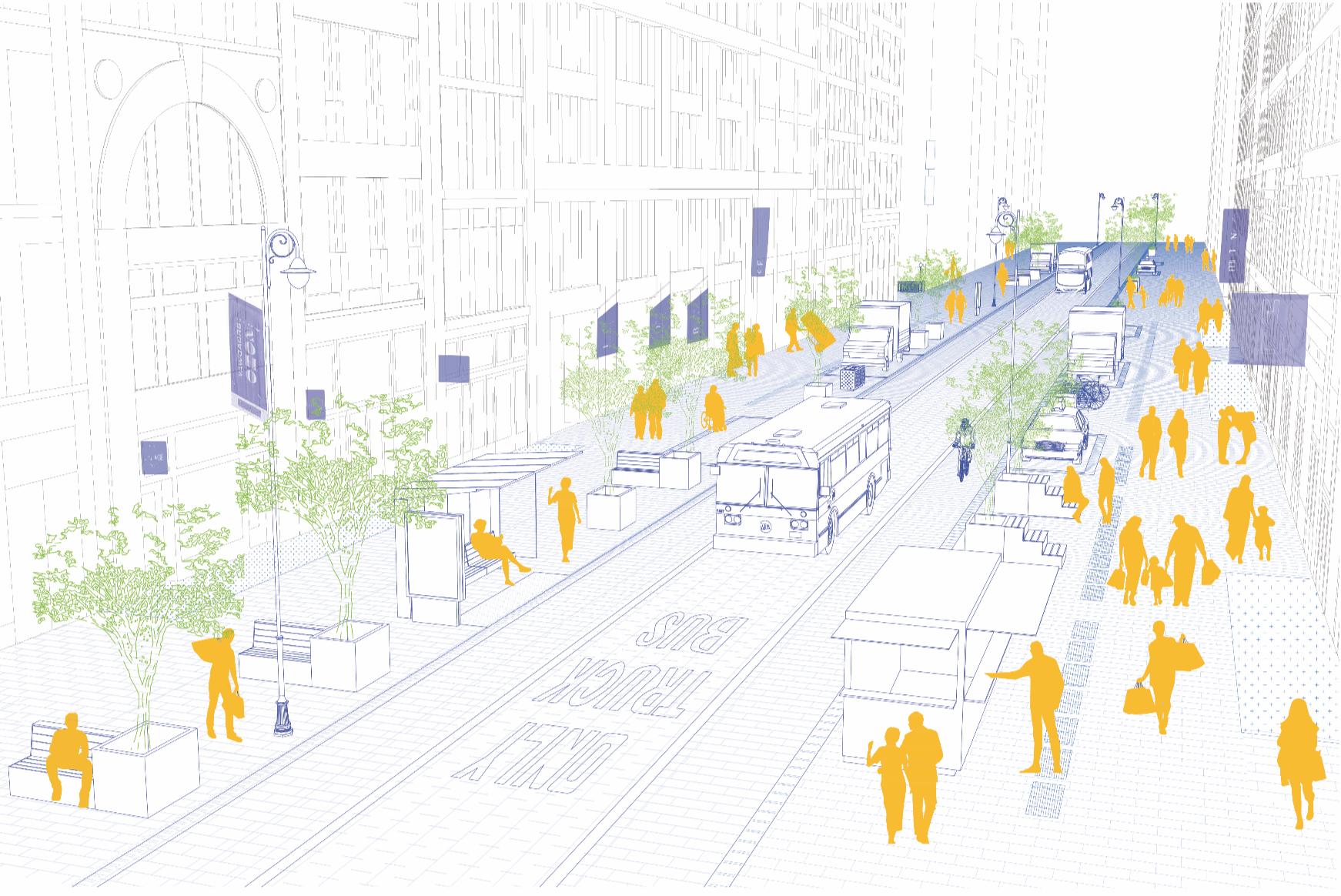 ارائه چشم انداز SoHo BID برای برادوی بین هوستون و کانال