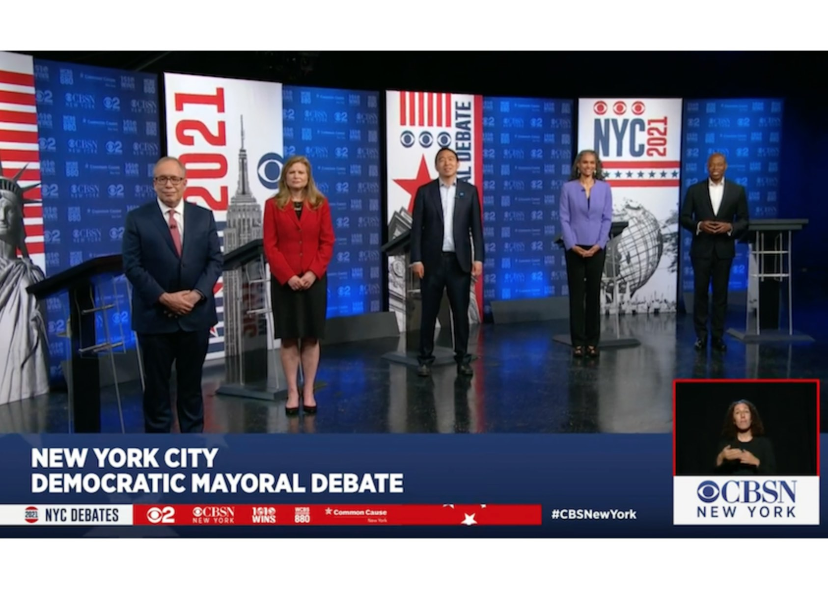 The third mayoral debate featured only five candidates.