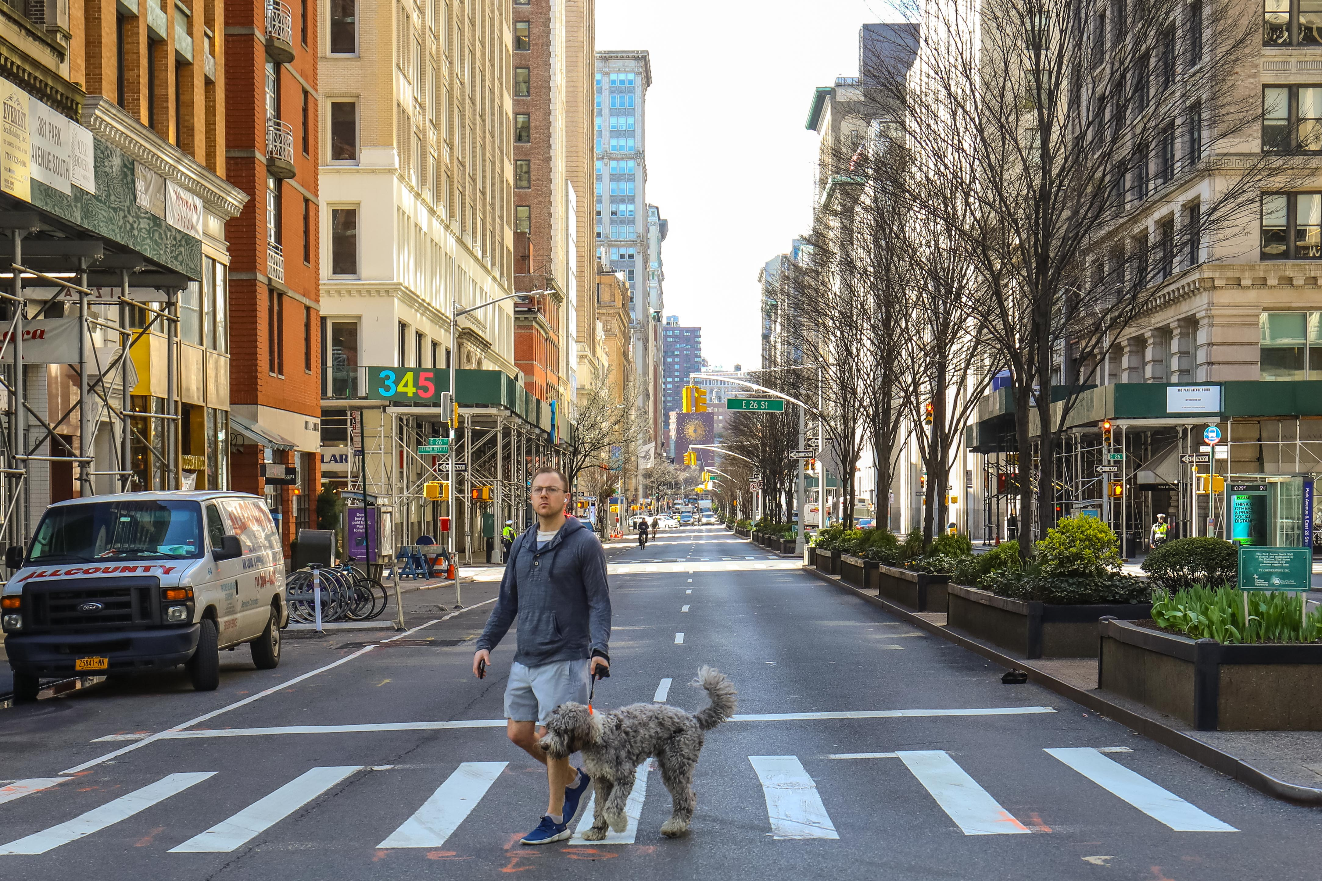 A photo from the Park Avenue open streets pilot