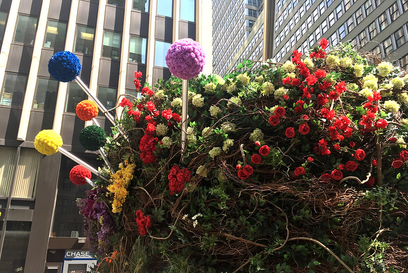 a flower arrangement in Midtown