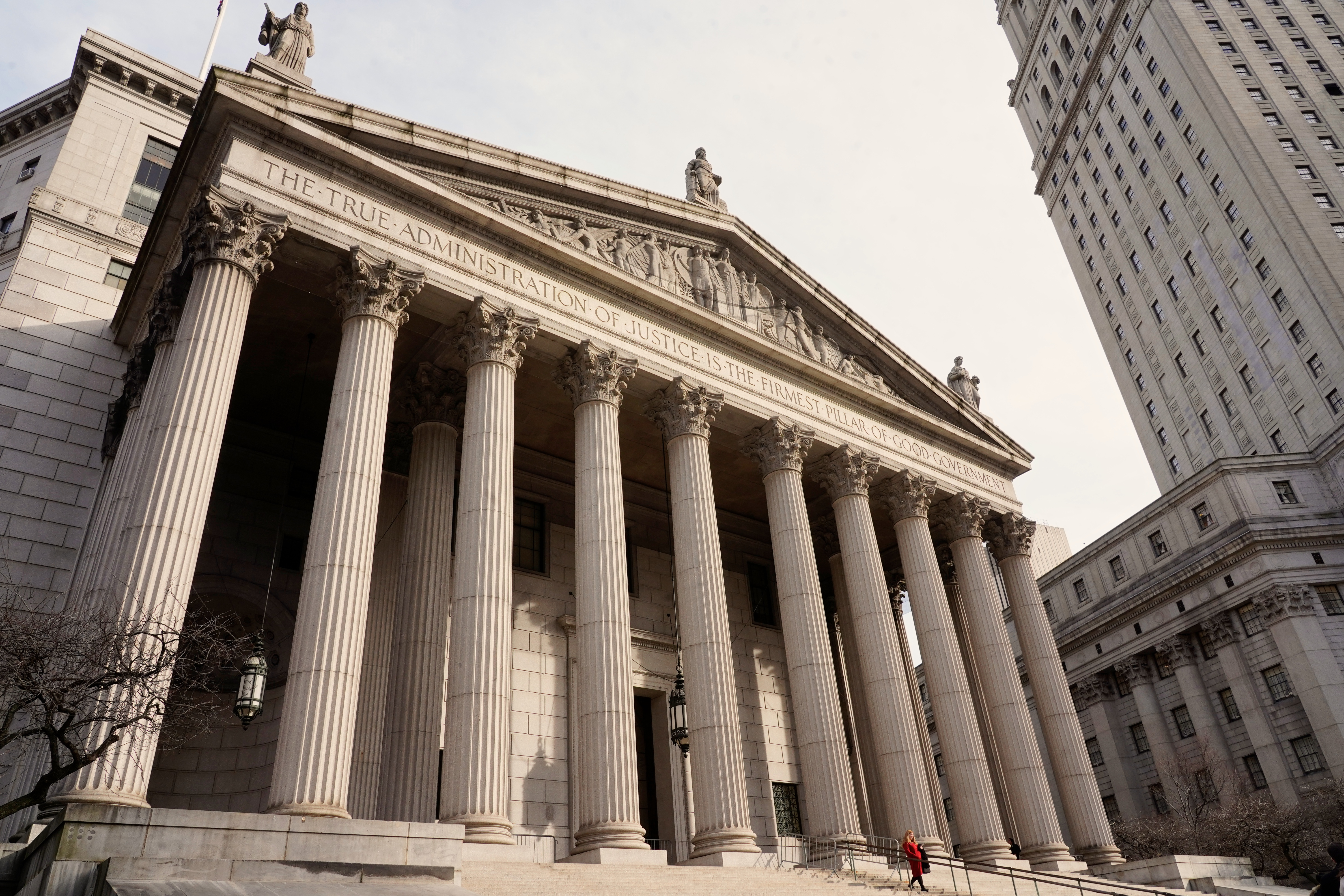 Exterior picture of New York County Supreme Court